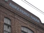 Fabriksgebäude Jugendstil-Schriftzug, Detail