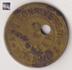 Wertmarke für Consumverein aus der Monarchie (2 Heller)