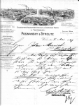 Briefpapier 1909