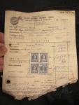 Frachtschein aus 1964