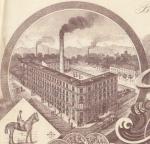 Fabriksskizze auf Briefkopf 1900
