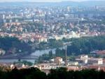 Ansicht von Petřín (Ausichtsturm auf Hügel)