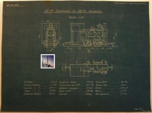 09.03.1925: Projektierte 35 PS - Lokomotive für 760 mm Spurweite.