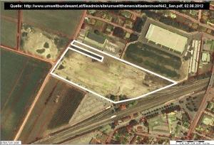 Luftbild der Altlast aus dem Jahr 2000. Quelle [1], Umweltbundesamt GmbH (2008)