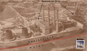 Relikte um 2010 und deren Lage am alten Luftbild