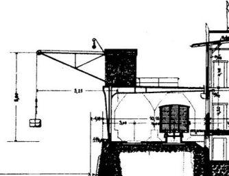 Halbportalkrananlage am Beispiel Breslauer Stadthafen, Aus: AllgemeineBauzeitung, 1903, Tafel50