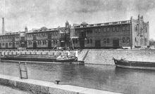 Halbportalkrananlage am Beispiel Breslauer Stadthafen, Aus: AllgemeineBauzeitung, 1903, Tafel51