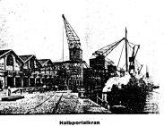 Beispiel Halbportalkrananlage der Siemens-Schuckert Werke, Aus: Zeitschrift: Elektrotechnik und Maschinenbau, 1916, Anzeige, Seite 455
